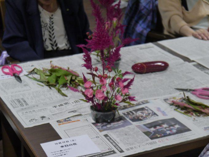 生花(いけばな)による華道レクリエーション