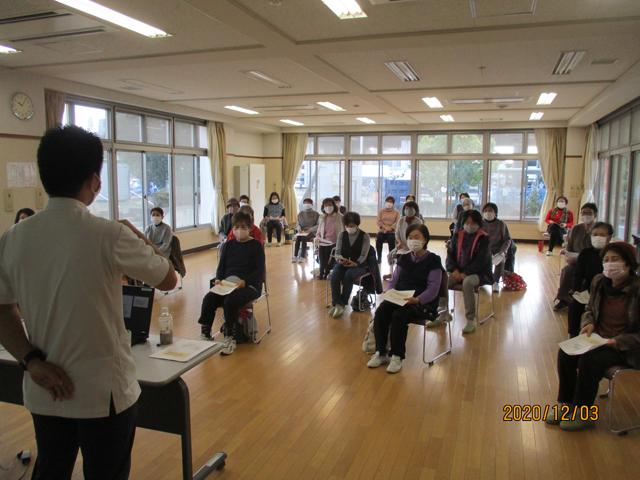 地域貢献活動 清水北部交流センターにて「健康寿命教室」開催